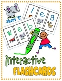 "PHONICS Interactive Segmenting Flashcards (CVC Short ""E"") ""Mystery Words"""