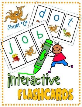 """PHONICS Interactive Segmenting Flashcards (CVC Short """"O"""")"""