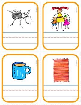 "PHONICS Interactive Segmenting Flashcards (CVC Short ""U"") ""Mystery Words"""