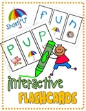 "PHONICS Interactive Segmenting Flashcards (CVC Short ""U"") ""Mystery Words"""