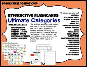 Interactive Flashcards: Categories, what does not belong, ABA