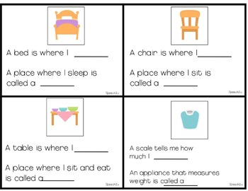 Interactive Flashcards, object functions, fill in blanks, Autism, ABA