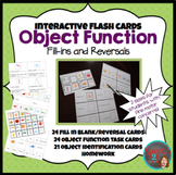 Interactive Flashcards, object functions, fill in blanks,