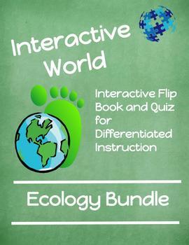 Interactive Flip Book and Quiz ECOLOGY BUNDLE