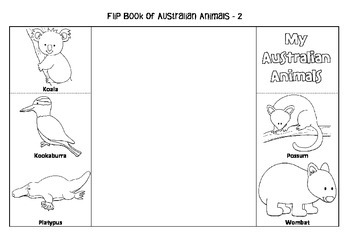 Interactive Flip Book of Australian Animals