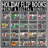 Flip Book Bundle Holiday Writing Prompts 3rd Grade 4th Grade End of Year Writing