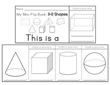 2D and 3D Shape Flip Books