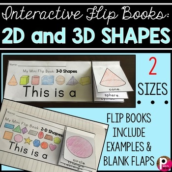 Interactive Flip Books: Shapes (2D and 3D)