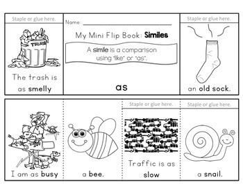 Simile and Metaphor Flip Books
