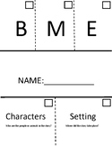 Interactive Flip Chart: Beginning, Middle, End, Characters, Setting