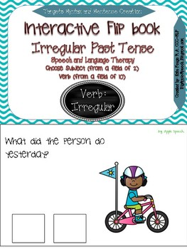 Interactive Flip book Irregular Past Tense, Pronouns & Syntax (Speech/Language)