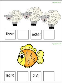 Interactive Flip book Irregular Plurals & Syntax Part 1 (Speech/Language)