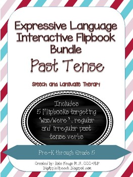 Interactive Flip book Past Tense BUNDLE, Pronouns & Syntax (Speech/Language)