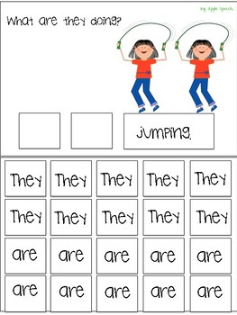 "Interactive Flip book verb ""ARE"" Sentence Creation & Syntax (Speech/Language)"