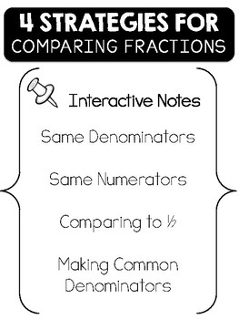 Interactive Flipbook for Comparing Fractions in 4 Ways
