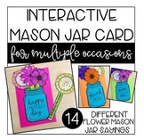 Interactive Flower Cards for Multiple Occasions: Mother's Day, Thank You +more
