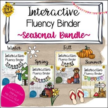 Interactive Fluency (Stuttering) Binder SEASONAL BUNDLE