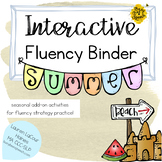 Interactive Fluency (Stuttering) Binder - SUMMER