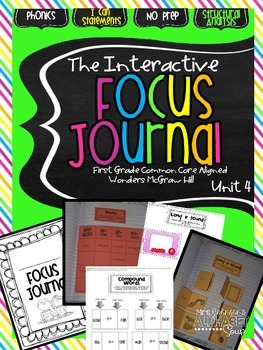 Interactive Focus Journal Unit 4 {Wonders Reading Program}