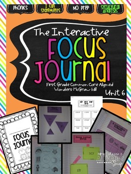 Interactive Focus Journal Unit 6 {Wonders Reading Program}
