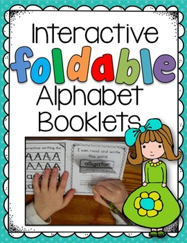 * Interactive Foldable Alphabet Booklets-2 levels w 3 flip-flaps