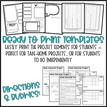 Interactive Foldable Character Project / Book Report