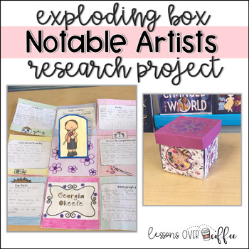 Interactive Foldable Research Project: Famous Artists Exploding Box