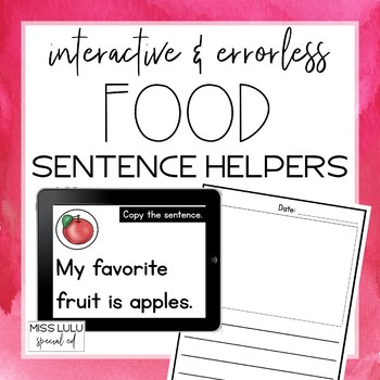 Digital Interactive Food Errorless Sentence Helpers