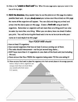 Interactive Food Web! Use a website to help teach food webs & energy pyramids!