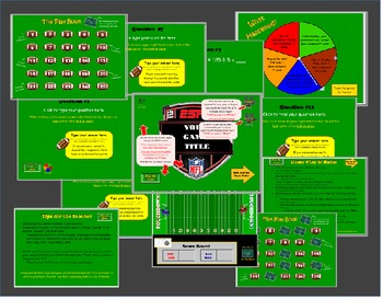 Interactive Football Game TEMPLATE- create your own questions!
