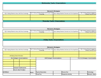 Interactive Fourth Grade Reading Lesson Plan Template-Florida