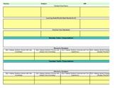 Interactive Fourth Grade Social Studies Lesson Plan Template-Florida