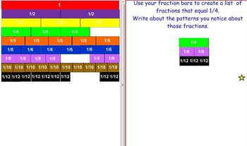 Interactive Fraction Bars for the Whiteboard