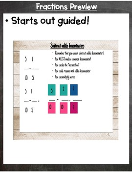 Interactive Fraction Review for Google Classroom