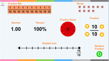 Interactive Fractions Flashcards