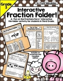 Interactive Fractions Folder for Third Grade