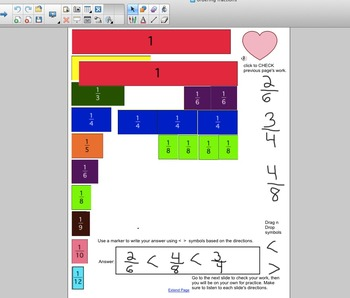Interactive Fractions - Ordering and Comparing