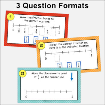 Interactive Fractions on a Number Line - Set 1