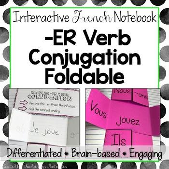 Interactive French Notebook: Regular -ER Verb Conjugation