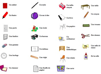 French Classroom Objects Interactive Activity, Powerpoint Game