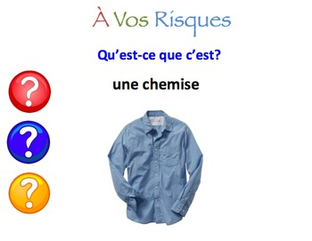 French Clothing Interactive Activity, Powerpoint Game