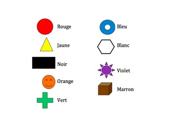 French Colors Interactive Activity, Powerpoint Game