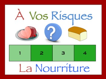 French Food and Drinks Interactive Activity, Powerpoint Game