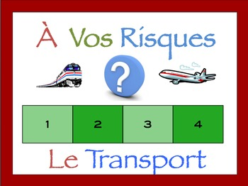 French Transportation Interactive Activity, Powerpoint Game
