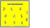 Interactive French Professions Vocabulary Square Jigsaw Puzzle