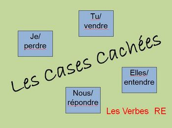 """Interactive French """"RE"""" Verb Activity (Powerpoint)"""