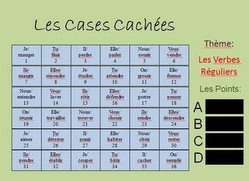 Interactive French Regular (er, ir, re) Verb Activity - Powerpoint