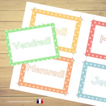 French School Weekly Planner⎜Printable Planner⎜Printable Worksheets