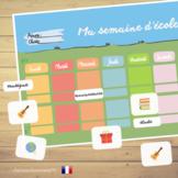 French School Weekly Planner⎜Printable Planner⎜Printable W