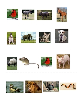 Interactive French Speaking Activity with Animal Vocabulary